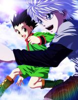 HxH - Killua and Gon by Eroishi
