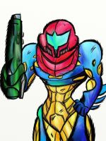 Practice: Metroid fusion Samus by EPICamiture2099