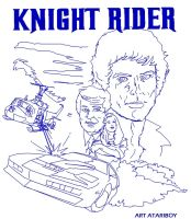 Knight Rider 2600 Label Sketch by Atariboy2600