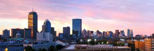 Boston Skyline at Sunset by Meteomaniac