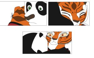 Po and Tigress hug by Agi6