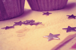 Wallpaper Cupcake Purple Stars by Fatuu