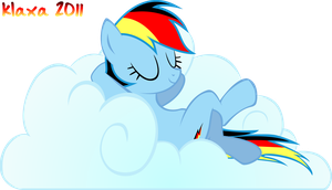 German Rainbow Dash on Cloud by klaxa