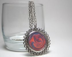 Orange+Purple Abstract Pendant by ExperienceDesigns