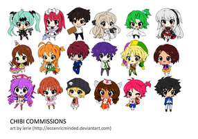 Chibi Commission Batch I by eccentricminded