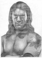 WWE Edge Pencil Drawing by Chirantha