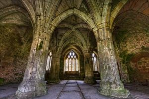 Valle Crusis Abbey HDR Color by CharmingPhotography