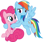 Pinkie and Dash by SilverMapWolf