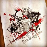 Hotrod themed trah polka by dazzbishop
