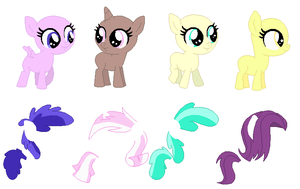 Tiny Foals Base 02 by SelenaEde