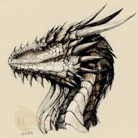 Ink Dragon Portrait by Naseilen
