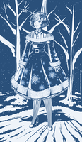 Kamiko - Snowflake Lolita Dress by AlbinoGrimby