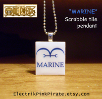 OP Marine scrabble pendant by ElectrikPinkPirate