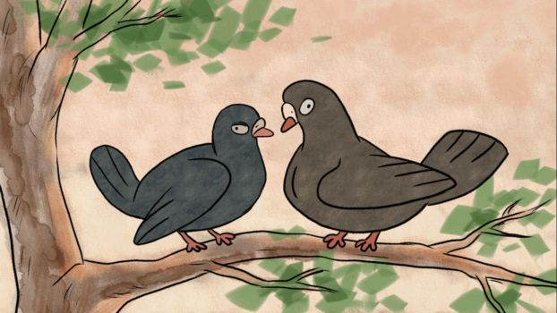 Sweet pigeons - animation by tanya-buka