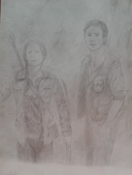Katniss and Gale by Flashali