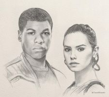 Finn and Rey by ChaosNDisaster