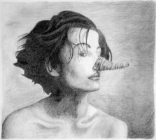 Woman with a Tape Measure on Her Nose by ravenescence
