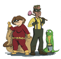 Squirrel Girl and Friends by AlyssaWiggen