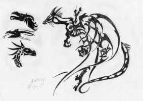 Dragon tattoo by Gisterose