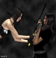 La Femme Punisher vs Rin by hotrod5