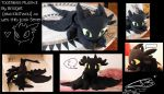 Toothless plush by Kikitwou