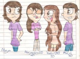 Yo y mis alternos XD by LovelyAlexIslandOwO