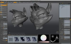 creation face of sly in pc modeler by FCC93