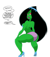 Desiree Twerking (colored) by DaCommissioner