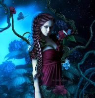 Midnight rose by Fae-Melie-Melusine