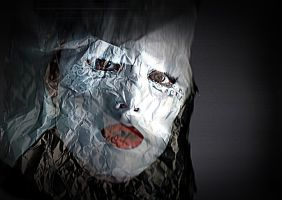Crushed paper portrait by April-Mo