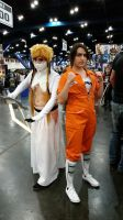 Comicpalooza 2015 - Harribel and Chell cosplay by Imperius-Rex