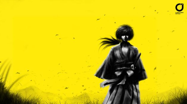Kenshin - Speed Painting by MOROTEO56