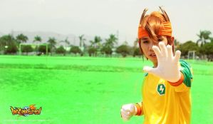 Inazuma Eleven Cosplay - God Hand Endou by darknaito