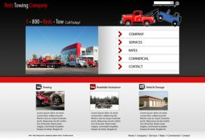Towing Company Website Mockup by dhrandy