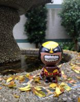 Custom Bobble Budd Fan Art.  Brown Suit Wolverine by BobbleBudds
