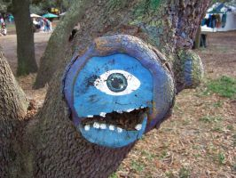 Silly but Artfully Painted Tree Monster by Dream-finder