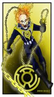 Yellow Lantern Ghost Rider by AmandaRachels