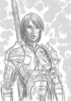 Rough Hawke Sketch by ZhaxRa