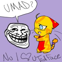 I love the Troll Face by FieryTiger