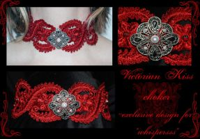Victorian Kiss choker by redLillith