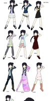 Tomoe:Wardrobe Reference by nejiHolic