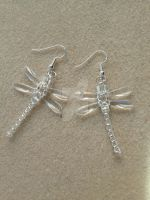 Beaded Dragonfly Earrings - Clear by WhiteMagicPriestess