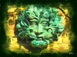 Blessed Greenman by Albion-James