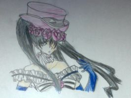 Ciel..... dressed as a girl... by JellybellStar