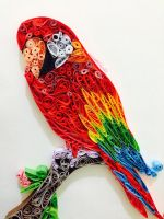 Macaw quilling art by DreamSnowblu