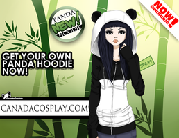Panda hoodie advertisement contest entry by Kiktion