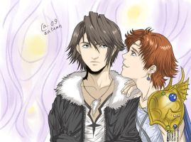 Squall and Bartz by Autumn-Sacura