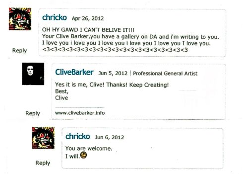 Im gay...for Clive Barker by chricko