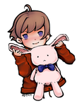 Boy and Bunny Colored by pajee
