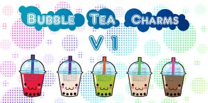 Bubble Tea Charm Designs by MaeMaeTwin